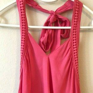 NWOT!! Lush Pink Halter Top Size Small